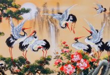 Ý nghĩa sâu sắc của hình tượng chim hạc trong hội họa truyền thống