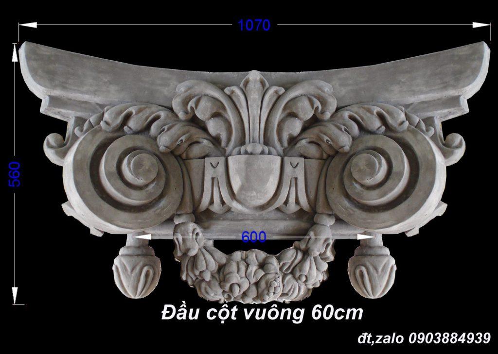đầu cột vuông 60cm và tròn ø-60cm